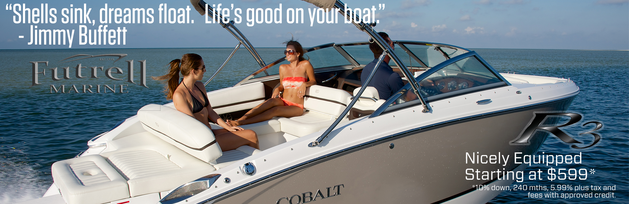 Shells sink, dreams float. Life's good on your boat.