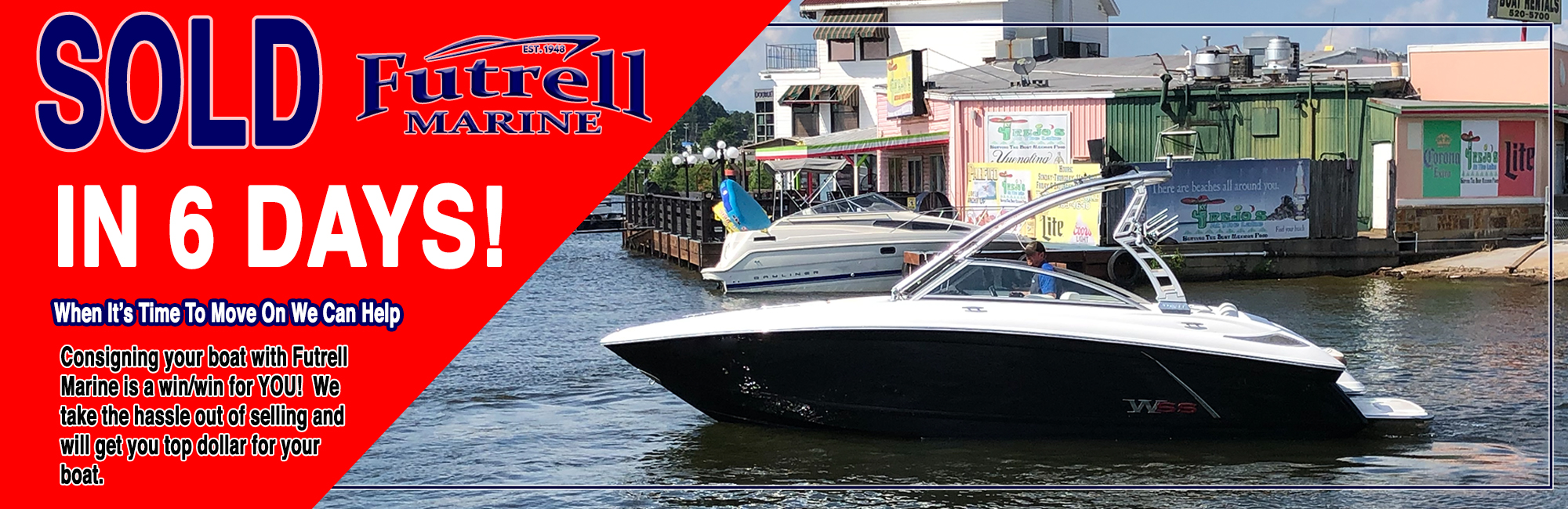 Sold In 6 Days; let us sell your boat
